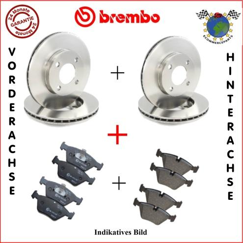 kit bremsscheiben und bremsbel ge vorne hinten brembo. Black Bedroom Furniture Sets. Home Design Ideas