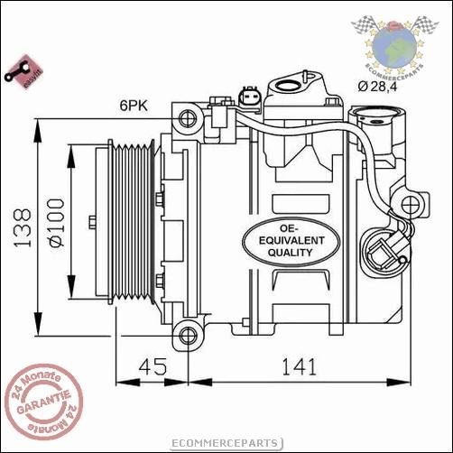 Klimakompressor MERCEDES-BENZ S-KLASSE Coupe CL 500